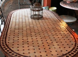 Marokkaanse mozaiektafels